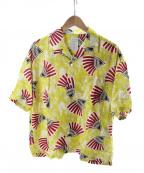 Mr.Gentleman(ミスタージェントルマン)の古着「アフリカンパターンキャンプカラーシャツ」|イエロー