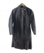 MACKINTOSH()の古着「ゴム引きステンカラーコート」|グレー