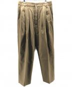 Hed Mayner(ヘド メイナー)の古着「4 PLEAT PANT」|ベージュ