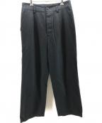 nestrobe confect(ネストローブ コンフェクト)の古着「リネンタックワイドパンツ」 ブラック
