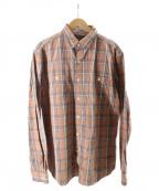RRL()の古着「ヘビーコットンチェックシャツ」|オレンジ