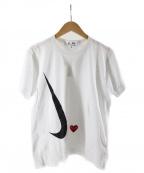 PLAY COMME des GARCONS×NIKE(プレイコムデギャルソン ナイキ)の古着「Cdg Play Nike X Play T-Shirt」|ホワイト