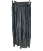 1er Arrondissement(プルミエ アロンディスモン)の古着「プラチナサテンスカート」|グリーン