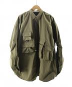 DAIWA PIER39(ダイワ ピアサーティンナイン)の古着「Mulch Pocket Easy Shirts」 カーキ