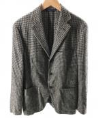 Belvest(ベルヴェスト)の古着「シルク混3Bジャケット」|ブラウン