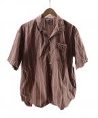 son of the cheese((サノバチーズ))の古着「Simple Stripe Shirt」|ブラウン