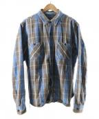 TENDERLOIN(テンダーロイン)の古着「ヘビーフランネルシャツ」|ブルー