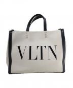 VALENTINO(ヴァレンティノ)の古着「VLTN キャンバストート」 ナチュラル