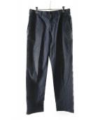 ()の古着「織り柄スラックス」 ネイビー