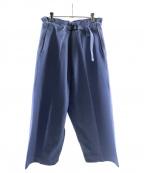 me ISSEY MIYAKE(ミー イッセイミヤケ)の古着「FLAT DENIM PANTS」|インディゴ