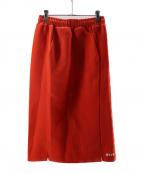 MSGM(エムエスジーエム)の古着「スウェットスカート」|オレンジ
