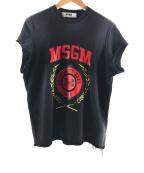 MSGM(エムエスジーエム)の古着「カットオフスウェット」|ブラック