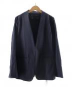 martinique(マルティニーク)の古着「ノーカラージャケット」 ネイビー