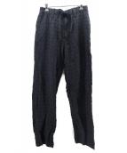 ()の古着「リネン混イージーパンツ」 ブラック