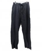 ISSEY MIYAKE MEN(イッセイミヤケメン)の古着「リネン混イージーパンツ」|ブラック