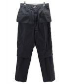 ()の古着「Workaholic Utility Trousers」 ブラック