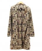 MOSCHINO(モスキーノ)の古着「ボタン柄ロングコート」|ブラウン