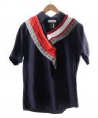 FACETASM(ファセッタズム)の古着「ニットディティールシャツ」 ネイビー