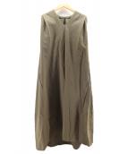 ()の古着「ボリュームコクーンドレス」|カーキ