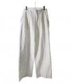 styling/(スタイリング)の古着「フロントプリーツスーツパンツ」|ホワイト