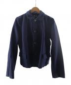COMME des GARCONS COMME des GARCONS()の古着「ポリ縮絨ラウンドカラージャケット」 ネイビー