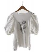 ()の古着「Albert Koetsierボリューム袖Tシャツ」|ホワイト