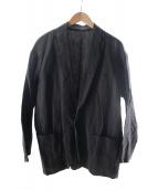 ()の古着「リネンジャケット」|ブラック