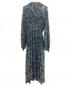 DOUBLE STANDARD CLOTHING(ダブルスタンダードクロージング)の古着「シフォンフラワーワンピース」 ブラック