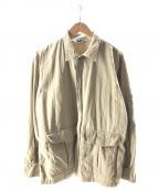 GOOD ENOUGH(グッドイナフ)の古着「ミリタリージャケット」 ベージュ