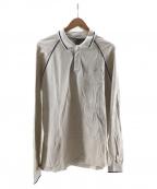 GR10K(ジーアールテンケー)の古着「ロングスリーブ ポロシャツ」 ベージュ