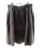 ()の古着「オックスコットンツイードのスカート」|ブラウン