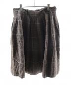 45R(フォーティファイブアール)の古着「オックスコットンツイードのスカート」 ブラウン
