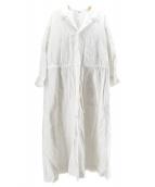 ()の古着「オックスフォードのシャツドレス」|ホワイト