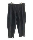 ()の古着「プリーツパンツ」|ブラック