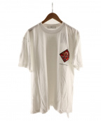 TOGA VIRILIS(トーガ ビリリース)の古着「PRINT T-SHIRT S/S WITH PATCH」 ホワイト