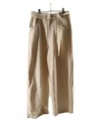URU(ウル)の古着「ROVING DENIM  BELTED PANTS」|アイボリー