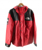 SUPREME×THE NORTH FACE(シュプリーム ×ザノースフェイス)の古着「Leather Mountain Jacket」 レッド