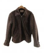 Trophy Clothing(トロフィークロージング)の古着「Beach Cloth Sport Jacket」 ネイビー×ブラウン
