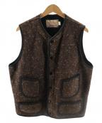 Trophy Clothing(トロフィークロージング)の古着「Beach Cloth Vest」 ネイビー