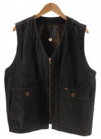 Trophy Clothing(トロフィークロージング)の古着「BLACKIE VEST」 インディゴ