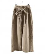 AKANE UTSUNOMIYA(アカネウツノミヤ)の古着「ベルト付きロングスカート」 ベージュ