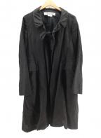 COMME des GARCONS COMME des GARCONS()の古着「リネンコート」 ブラック