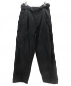 Graphpaper(グラフペーパー)の古着「Hard Twill Belted Pants」|ブラック