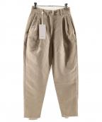 Graphpaper(グラフペーパー)の古着「Double Plain Weave Tuck Pants」|ベージュ