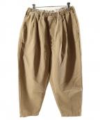 COOTIE PRODUCTIONS(クーティープロダクツ)の古着「T/C 2 Tuck Easy Pants」|ベージュ