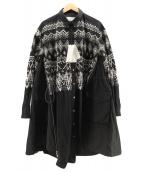 ()の古着「フェアアイル刺繍ワンピース」 ブラック