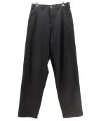 COMME des GARCONS HommePlus(コムデギャルソンオムプリュス)の古着「ウールワイドパンツ」|ブラック