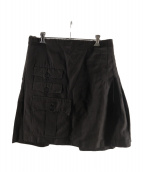 ()の古着「スカートレイヤードパンツ」 ブラック
