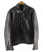 PRADA(プラダ)の古着「レザージャケット」 ブラック