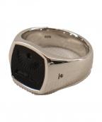 TOM WOOD(トムウッド)の古着「Cushion Athena Onyx Ring」 シルバー